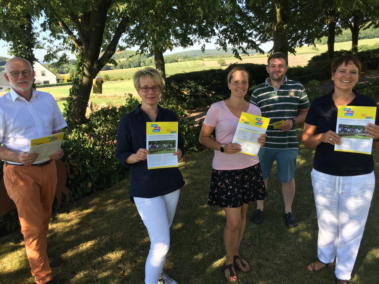 2020/08 Pressemitteilung FDP Vlotho stellt Wahlbroschüre vor